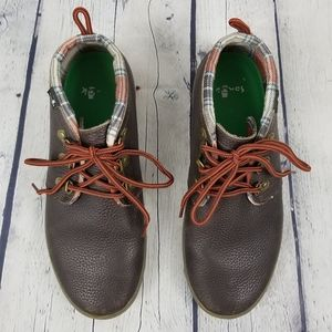 SANUK | Cargo Deluxe lace-up leather chukka boots